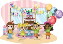 Birthday Vectors - Mega Bundle - Kids Birthday Party