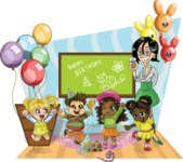 Birthday Vectors - Mega Bundle - School Kids Birthday Party