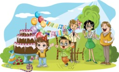 Birthday Vectors - Mega Bundle - Birthday Party in Nature