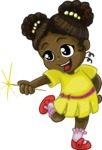 Birthday Vectors - Mega Bundle - Cute African American Girl