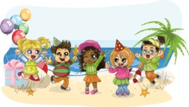 Birthday Vectors - Mega Bundle - Children's Beach Party