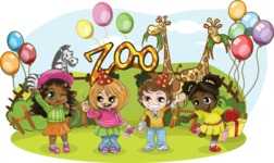 Birthday Vectors - Mega Bundle - Party at the Zoo