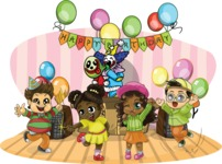 Birthday Vectors - Mega Bundle - Birthday Party with a Clown