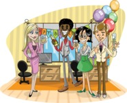 Birthday Vectors - Mega Bundle - Party at the Office