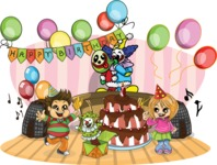Birthday Vectors - Mega Bundle - Children's Party with a Clown