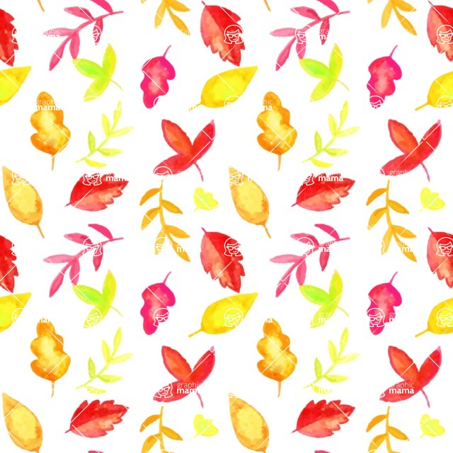 Seamless Pattern Designs Mega Bundle - Watercolor Pattern 13