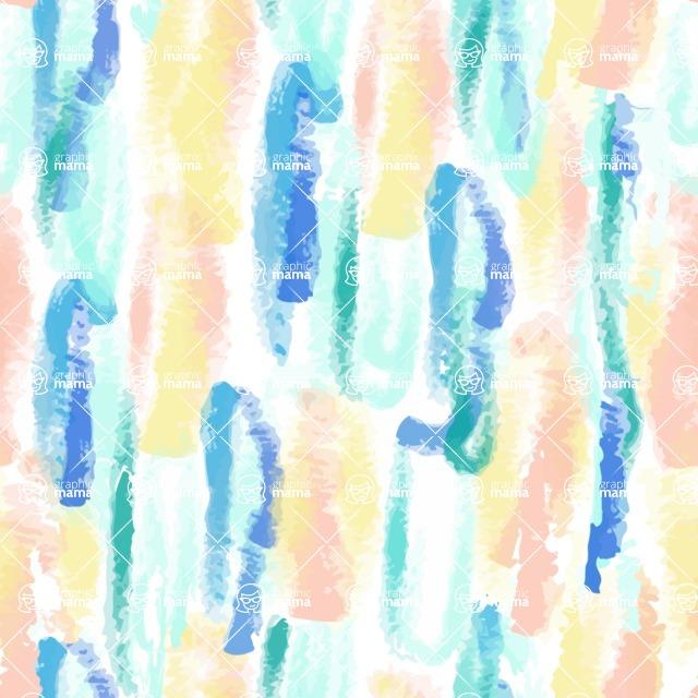Seamless Pattern Designs Mega Bundle - Watercolor Pattern 19