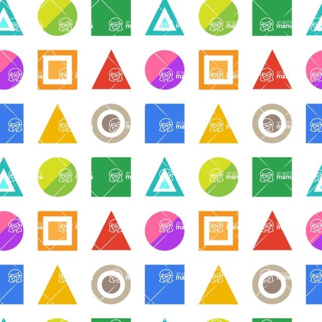 Seamless Pattern Designs Mega Bundle - Geometric Pattern 64