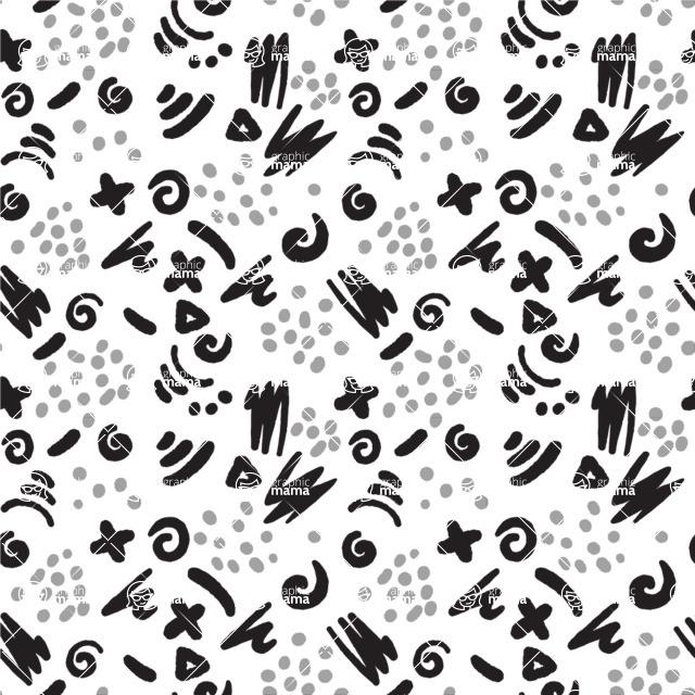 Seamless Pattern Designs Mega Bundle - Hand-drawn Pattern 23