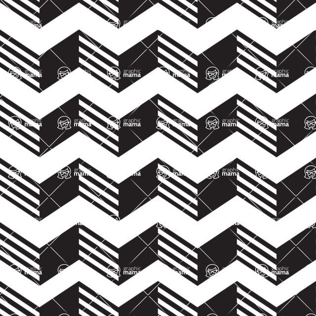 Seamless Pattern Designs Mega Bundle - Chevron Pattern 3