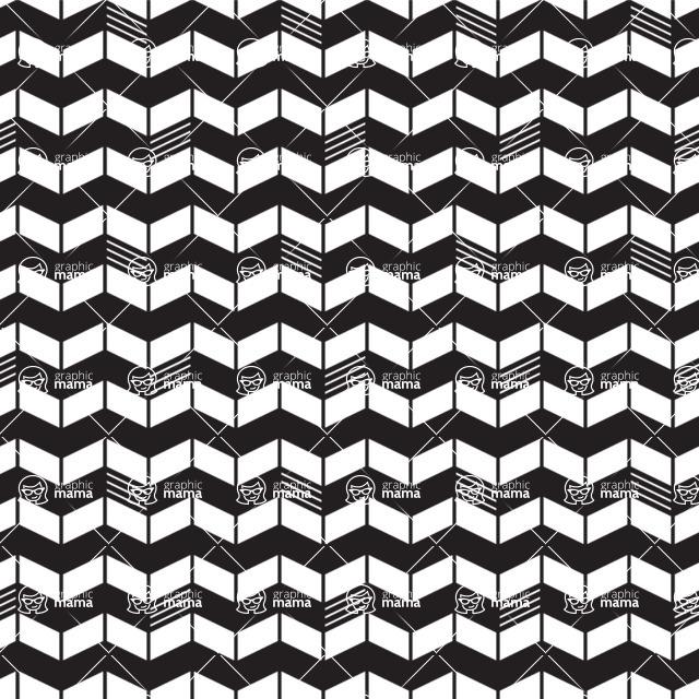 Seamless Pattern Designs Mega Bundle - Chevron Pattern 9