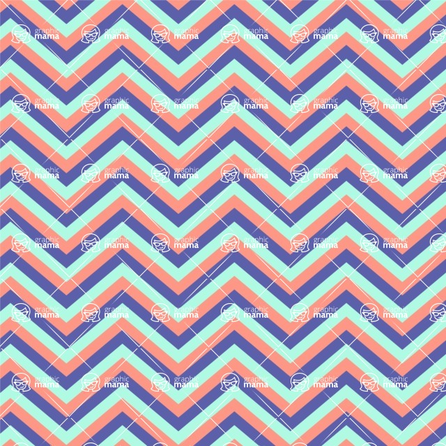 Seamless Pattern Designs Mega Bundle - Chevron Pattern 24