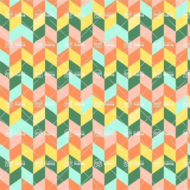 Seamless Pattern Designs Mega Bundle - Chevron Pattern 25