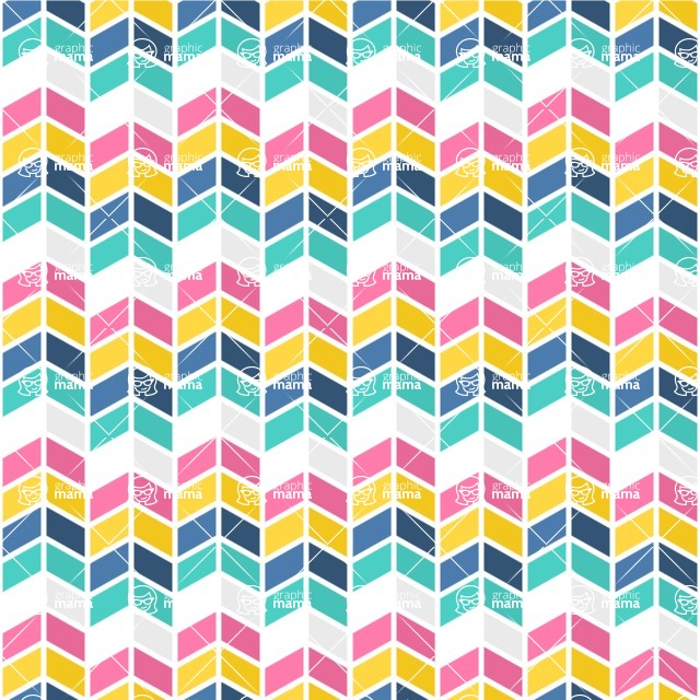 Seamless Pattern Designs Mega Bundle - Chevron Pattern 26