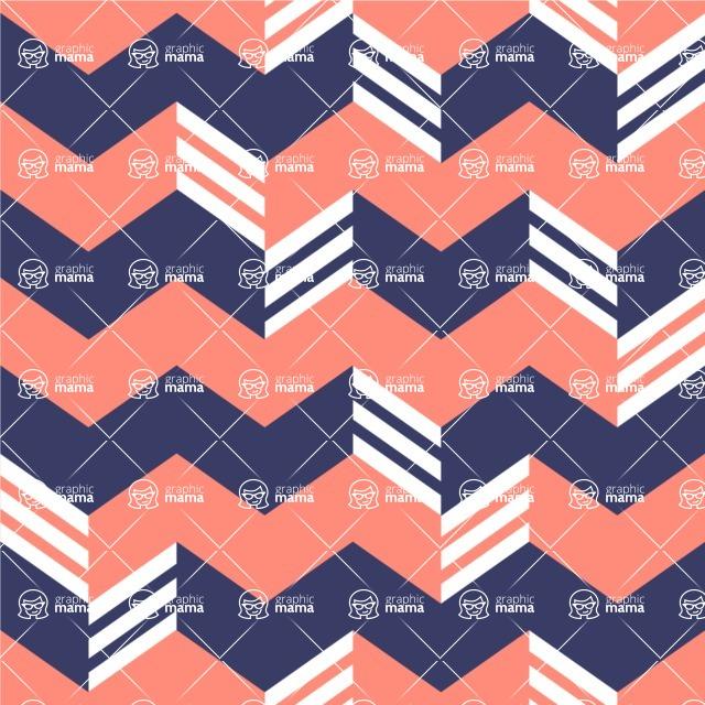 Seamless Pattern Designs Mega Bundle - Chevron Pattern 33