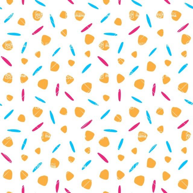 Seamless Pattern Designs Mega Bundle - Hand-drawn Pattern 29