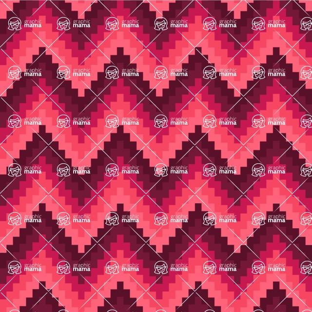 Seamless Pattern Designs Mega Bundle - Chevron Pattern 39