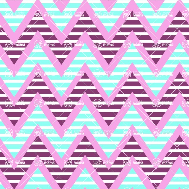 Seamless Pattern Designs Mega Bundle - Chevron Pattern 40