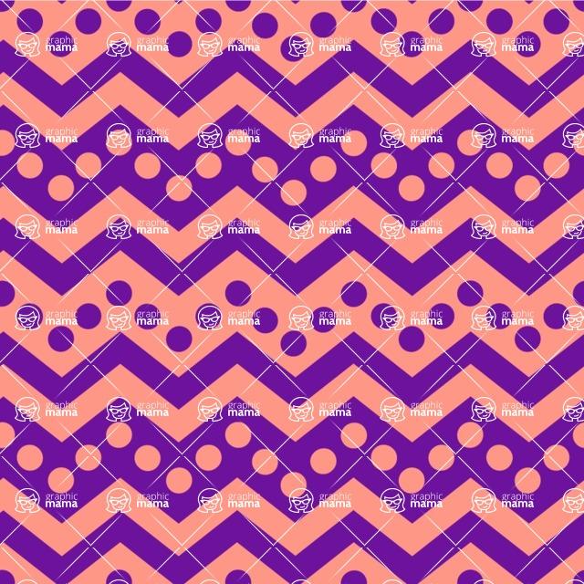 Seamless Pattern Designs Mega Bundle - Chevron Pattern 97