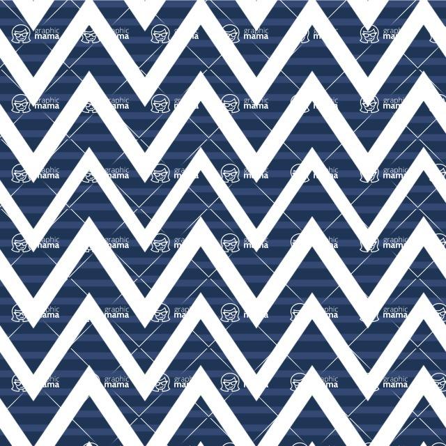 Seamless Pattern Designs Mega Bundle - Chevron Pattern 148