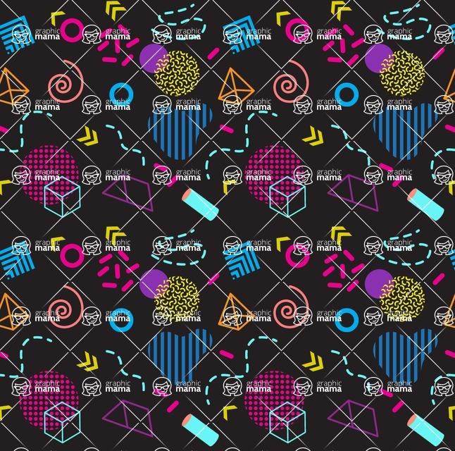 Seamless Pattern Designs Mega Bundle - Memphis Pattern 4