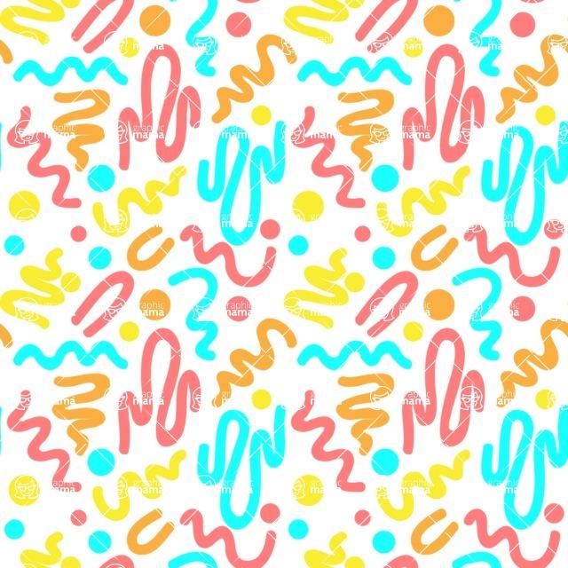 Seamless Pattern Designs Mega Bundle - Memphis Pattern 5