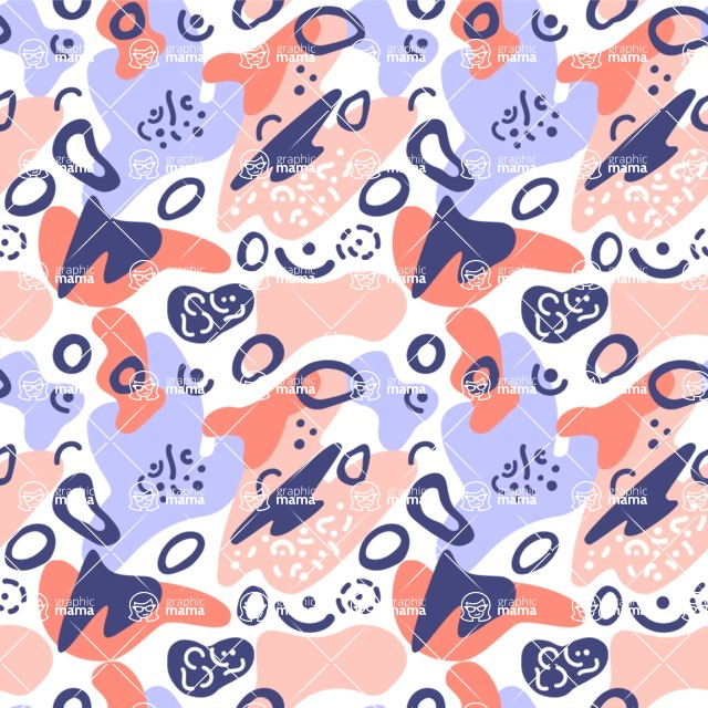 Seamless Pattern Designs Mega Bundle - Memphis Pattern 10