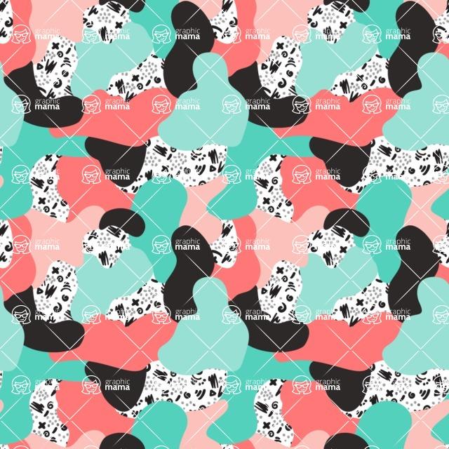 Seamless Pattern Designs Mega Bundle - Memphis Pattern 11