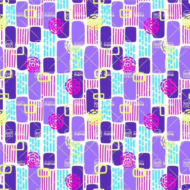 Seamless Pattern Designs Mega Bundle - Memphis Pattern 18