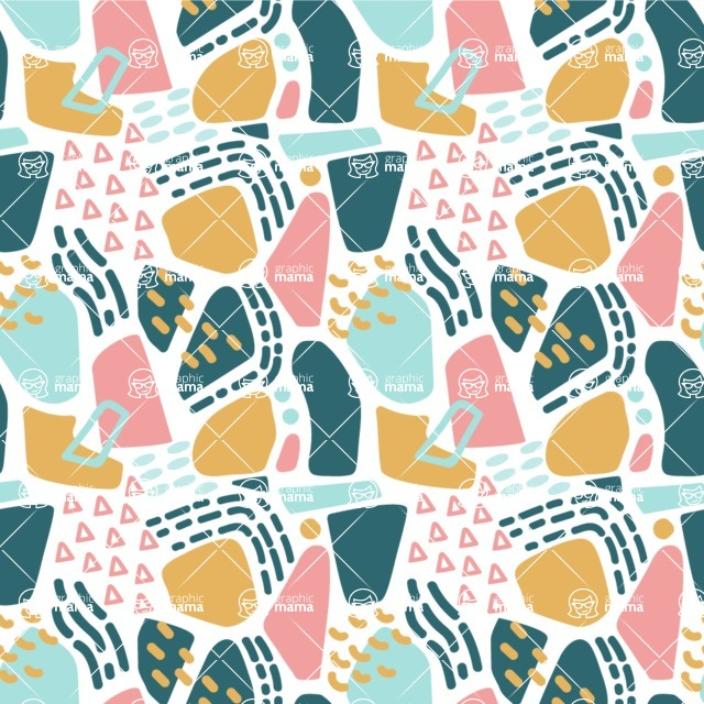 Seamless Pattern Designs Mega Bundle - Memphis Pattern 20