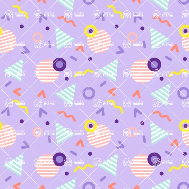 Seamless Pattern Designs Mega Bundle - Memphis Pattern 24