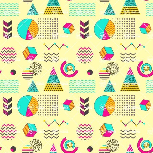 Seamless Pattern Designs Mega Bundle - Memphis Pattern 26