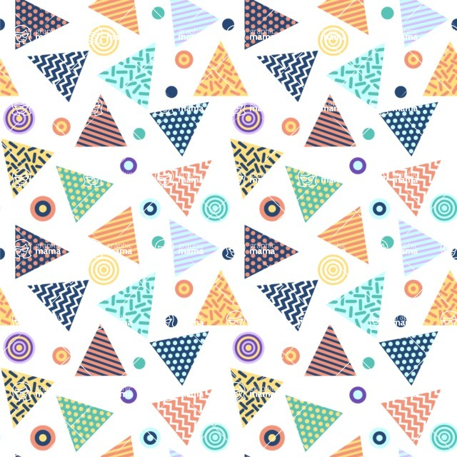 Seamless Pattern Designs Mega Bundle - Memphis Pattern 27