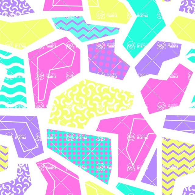 Seamless Pattern Designs Mega Bundle - Memphis Pattern 28