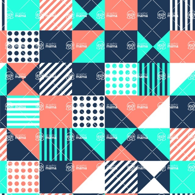 Seamless Pattern Designs Mega Bundle - Memphis Pattern 29