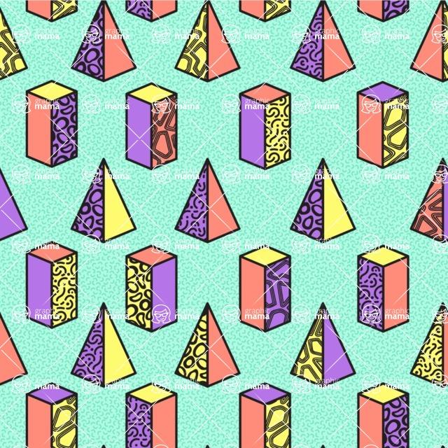 Seamless Pattern Designs Mega Bundle - Memphis Pattern 32
