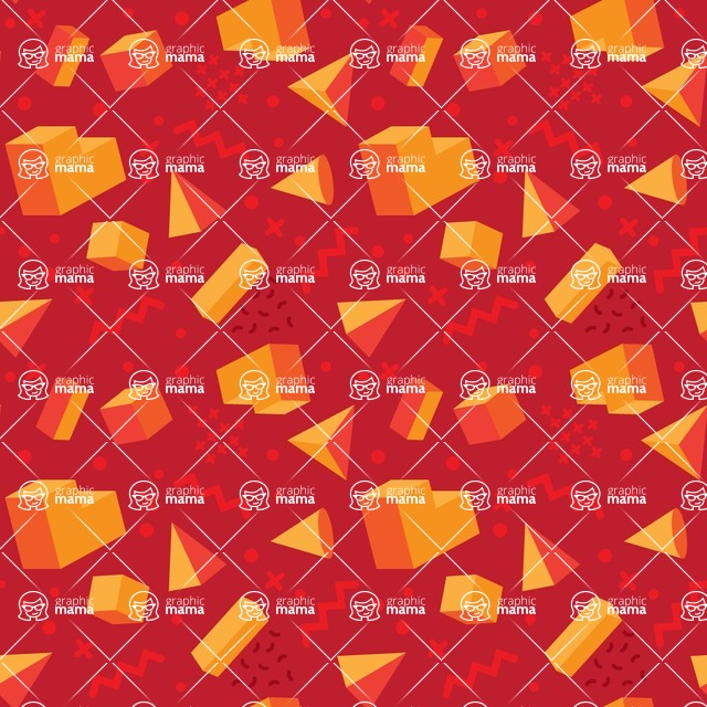 Seamless Pattern Designs Mega Bundle - Memphis Pattern 37