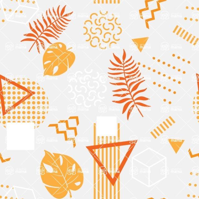 Seamless Pattern Designs Mega Bundle - Memphis Pattern 44