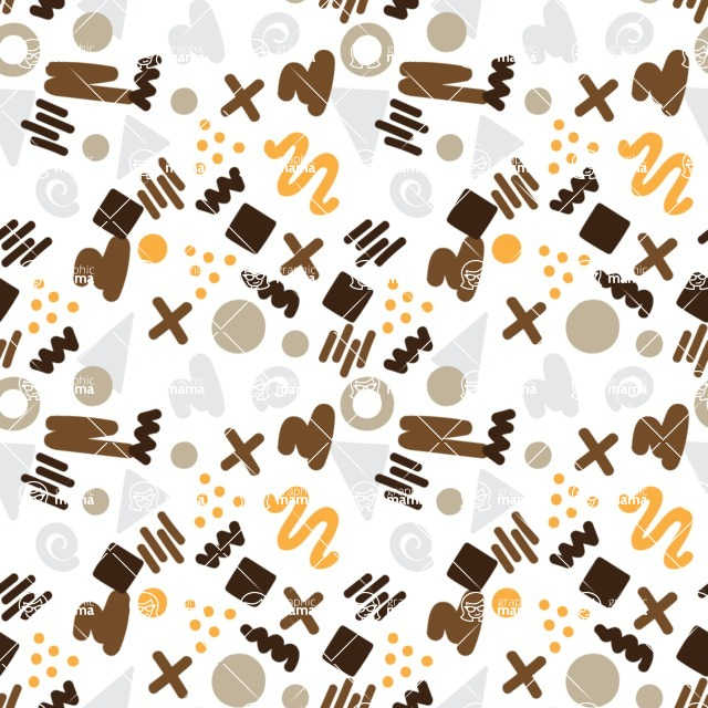 Seamless Pattern Designs Mega Bundle - Memphis Pattern 51