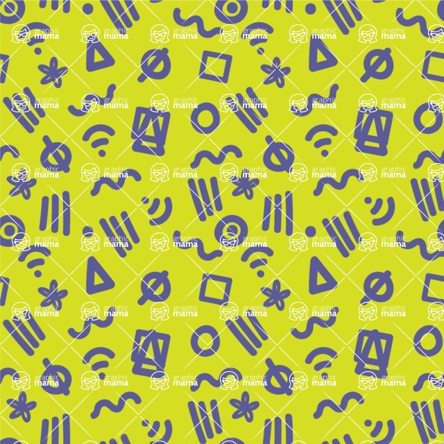 Seamless Pattern Designs Mega Bundle - Memphis Pattern 53