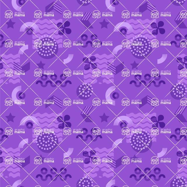 Seamless Pattern Designs Mega Bundle - Memphis Pattern 58