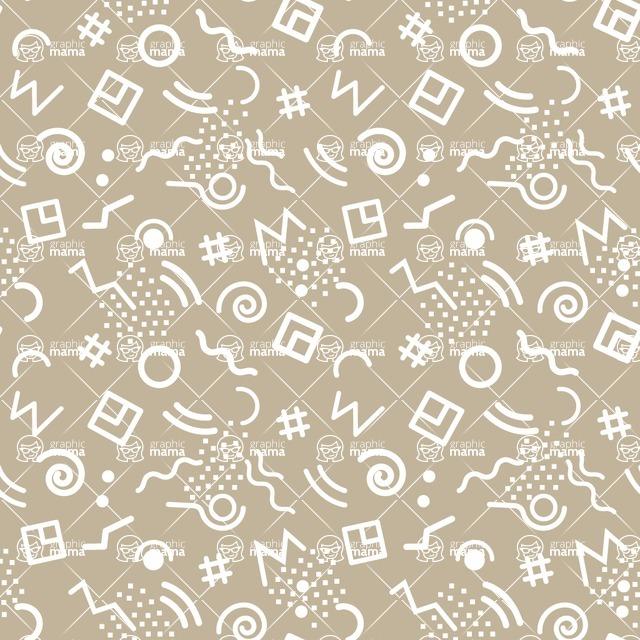 Seamless Pattern Designs Mega Bundle - Memphis Pattern 61