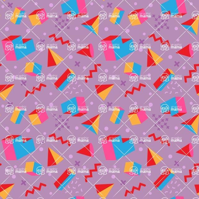 Seamless Pattern Designs Mega Bundle - Memphis Pattern 73