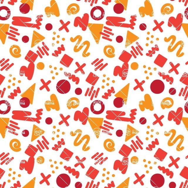 Seamless Pattern Designs Mega Bundle - Memphis Pattern 87