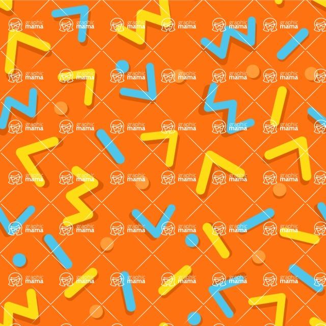 Seamless Pattern Designs Mega Bundle - Memphis Pattern 88