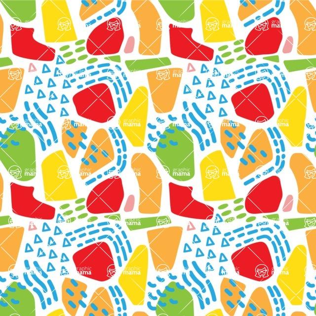Seamless Pattern Designs Mega Bundle - Memphis Pattern 92