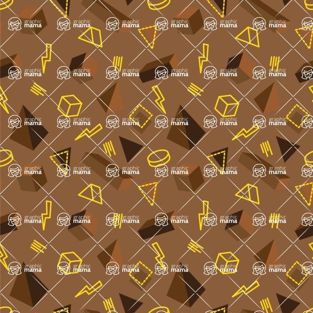 Seamless Pattern Designs Mega Bundle - Memphis Pattern 93