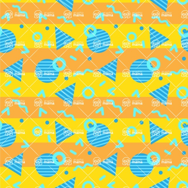 Seamless Pattern Designs Mega Bundle - Memphis Pattern 96