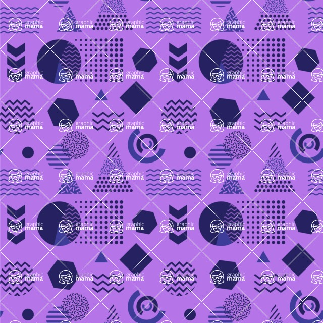 Seamless Pattern Designs Mega Bundle - Memphis Pattern 98