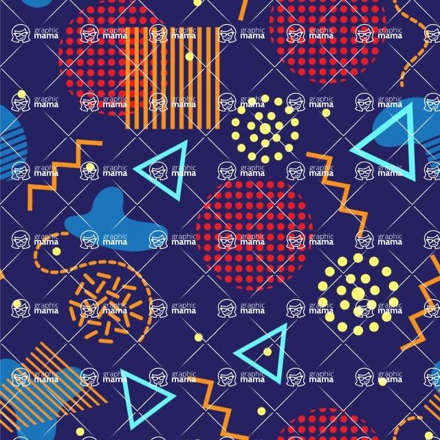 Seamless Pattern Designs Mega Bundle - Memphis Pattern 102
